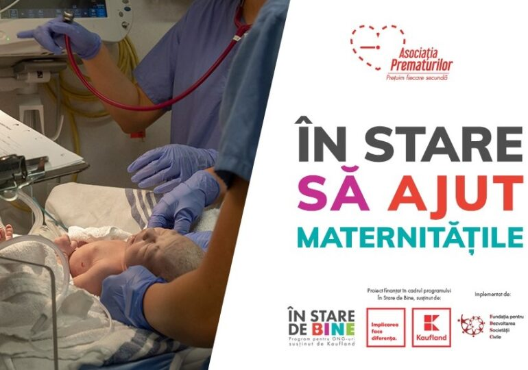 Asociația Prematurilor oferă echipamente de protecție și aparatură împotriva COVID-19 pentru personalul medical și nou-născuții din maternități