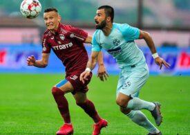 CFR Cluj câștigă și pune presiune pe Universitatea Craiova