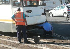 STB susține că se circulă în siguranță cu autobuzul pe linia de tramvai. Șoferii nu sunt de acord