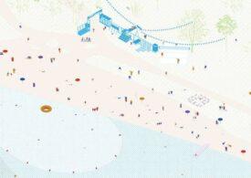 Cum arată plaja de la Dunăre transformată într-un spaţiu comunitar de recreere (Foto)
