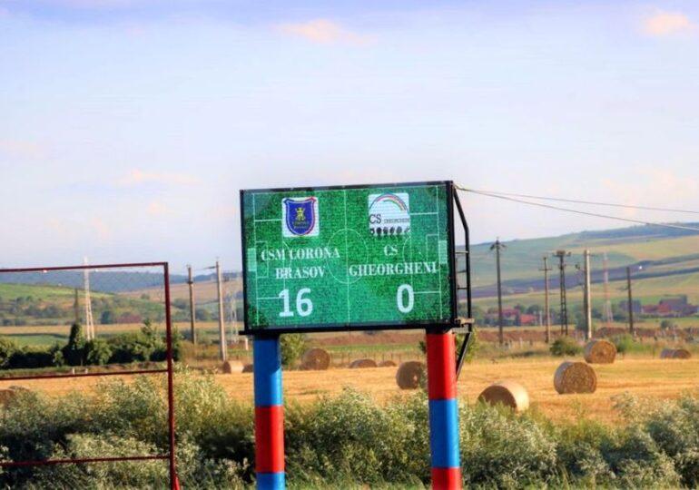 Scorul zilei în barajele de promovare în Liga 3 a venit de la Brașov, acolo unde Corona a marcat 16 goluri