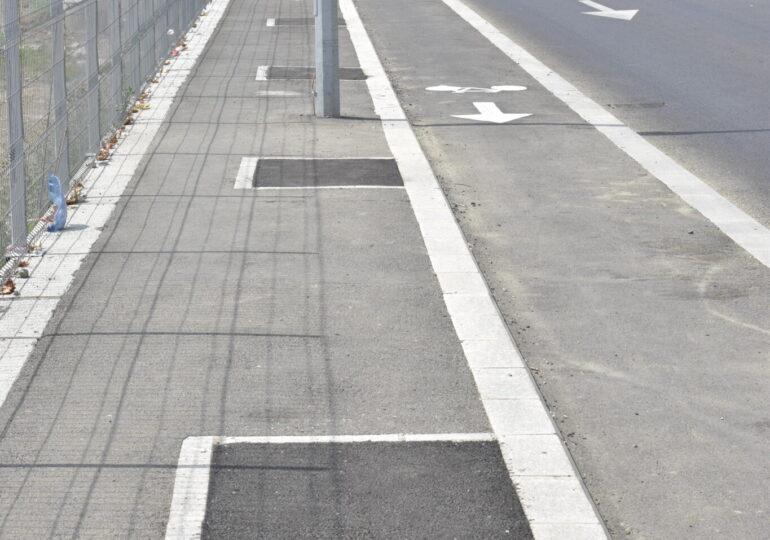 """""""Soluția"""" Primăriei Capitalei pentru trotuarele periculoase de pe Șoseaua Fabrica de Glucoză: O cârpeală făcută în bătaie de joc"""