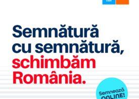 Alianţa USR-PLUS, prima formaţiune politică din România care strânge semnături online. Iată unde poți semna