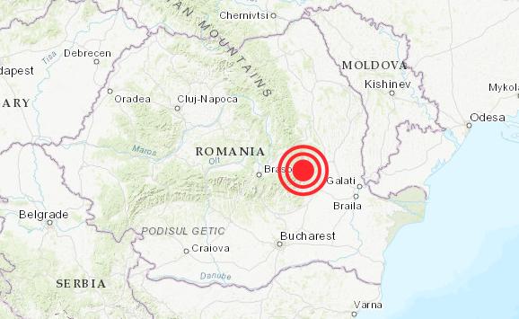 Cutremur de 4,5 grade în Vrancea resimțit în mai multe orașe
