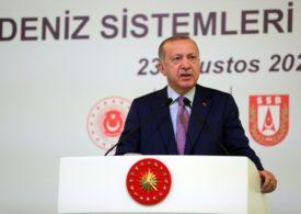 Erdogan, din ce în ce mai ofensiv: îl avertizează pe Macron