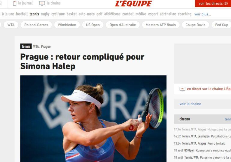 Presa internațională, despre evoluția Simonei Halep din meciul cu Polona Hercog: Iată ce-au remarcat L'Equipe și WTA