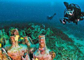 Epava unei corăbii antice plină cu amfore grecești poate fi explorată de scufundători în Marea Egee (Foto & Video)