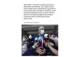 """Raed Arafat atrage atenția că circulă un fake news menit """"să destabilizeze comunităţile"""""""