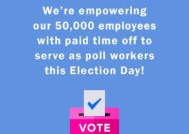 O companie americană își plătește angajații ca să lucreze în secțiile de votare la prezidențiale
