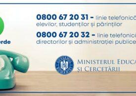 Au fost deschise liniile Telverde de la Ministerul Educației. Iată numerele și programul