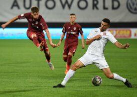 Liga 1: CFR Cluj, victorie la limită cu Hermannstadt