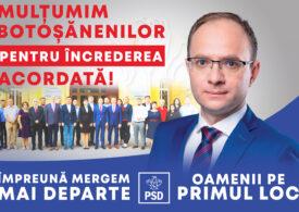 Botoșani e județ roșu: PSD a câștigat șefia CJ. PNL a pierdut și primăria la 33 de voturi