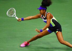 Naomi Osaka a trăit periculos la US Open