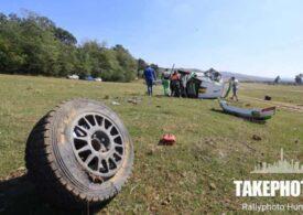 Mașina lui Simone Tempestini a luat foc în Raliul Iașului