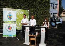 """Băluță a inaugurat o școală cu """"grădină pe perete"""". Spune că, dacă e reales, așa vor arăta și blocurile din Sectorul 4 (Video)"""