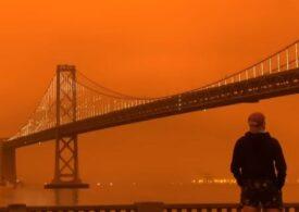 Cer apocaliptic în San Francisco, din cauza incendiilor de amploare istorică (Video&Foto)