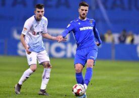 Universitatea Craiova câștigă și urcă pe primul loc în clasamentul Ligii 1