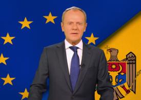 Donald Tusk, mesaj în limba română pentru Maia Sandu. A anunțat că o susține la prezidențialele din Moldova