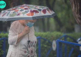 Meteo: Plouă în aproape toată țara