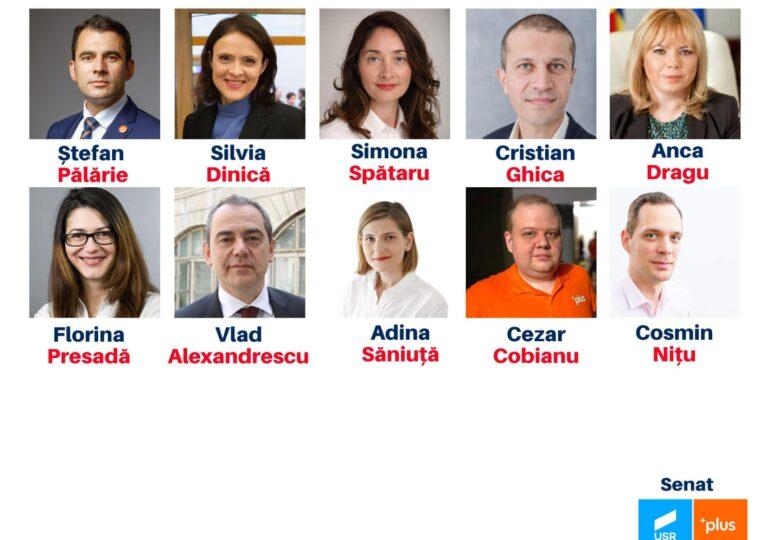 Parlamentari cu notorietate ai USR, pe locuri greu eligibile pentru următoarele alegeri