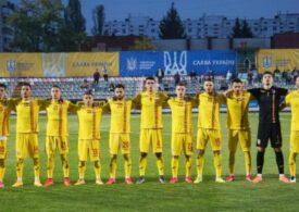 Naționala de tineret pierde în Ucraina după un penalti controversat