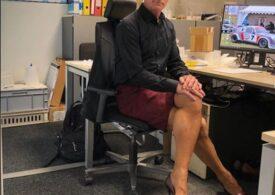 Are 61 de ani, o căsnicie fericită, nu e gay, dar merge zilnic la birou în fustă și pantofi cu toc!