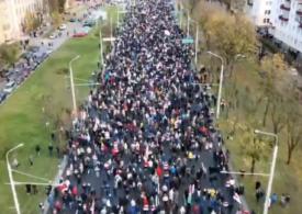 Nou protest masiv în Belarus, în ciuda riscului ca poliţiştii să folosească arme letale