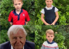 Copiii prințului William au vorbit public pentru prima dată, într-un videoclip cu David Attenborough (Video)