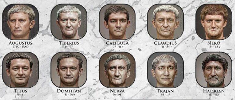 Chipurile împăraților romani, readuse la viață cu ajutorul inteligenței artificiale