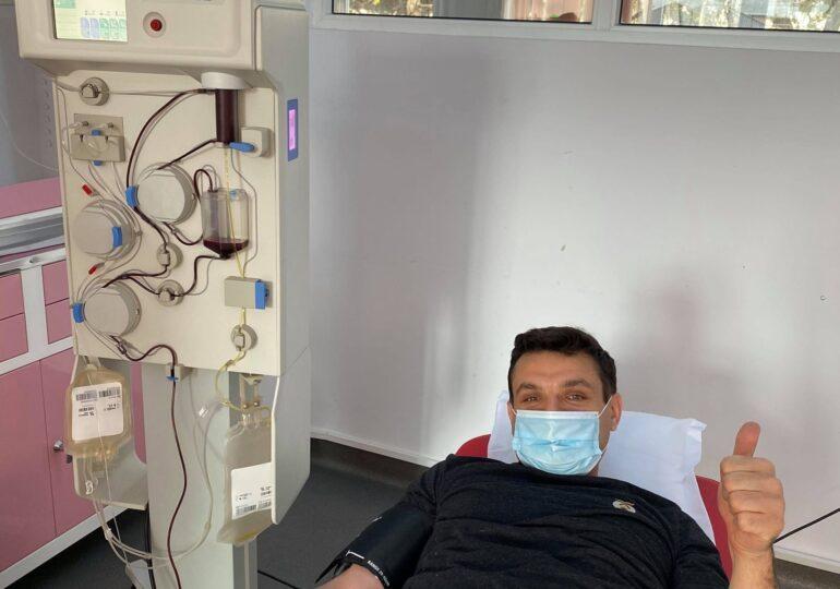 Un bărbat din Iași a donat de trei ori plasmă, după ce s-a vindecat de COVID: A salvat 9 vieți