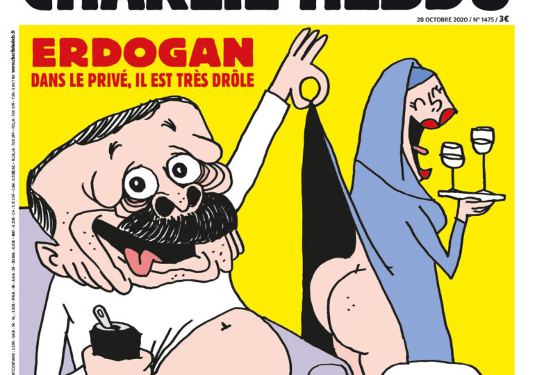 """Caricatură cu Erdogan pe coperta Charlie Hebdo <span style=""""color:#ff0000;font-size:100%;"""">UPDATE</span> Procurori turci au deschis dosar și pun sub acuzare revista"""