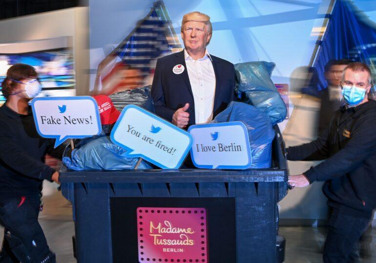 Madame Tussauds din Berlin a aruncat la gunoi figura din ceară a lui Donald Trump: You are fired!