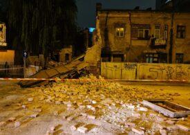 O clădire monument istoric din centrul Capitalei s-a prăbușit (Video)