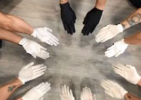 Viralul zilei: Arta mâinilor alb-negru