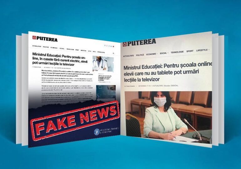 """Monica Anisie vrea o lege care să """"pedepsească aspru"""" fake-news-ul, după episodul cu """"elevii care nu au curent să facă lecții la televizor"""". Aşteaptă propuneri şi păreri"""