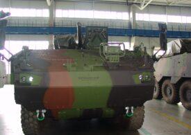 Primul lot de 12 transportoare blindate Piranha V pleacă spre Craiova