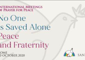 Moment istoric: Papa Francisc și principalii lideri religioși ai lumii se vor ruga simultan pentru victimele pandemiei şi pentru pace