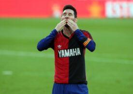Omagiu superb al lui Leo Messi pentru Maradona, după un gol marcat pentru Barcelona (Video)