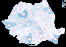 Rata de infectare a scăzut în București. Județele care au raportat sub 100 de cazuri noi