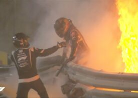 Accident grav în Formula 1. Mașina lui Romain Grosjean a luat foc în Bahrain și pilotul a scăpat ca prin minune (Video)