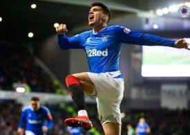 Ianis Hagi iese la rampă în Scoția cu un gol frumos marcat pentru Glasgow Rangers