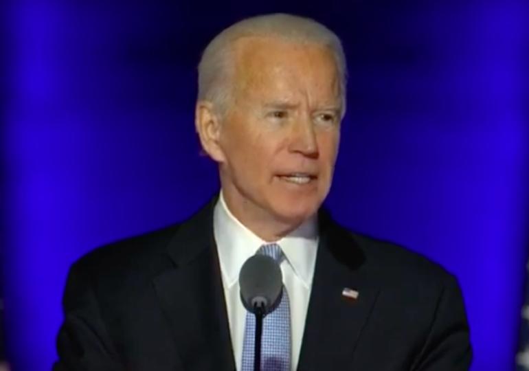 """Joe Biden, primul discurs după câștigarea alegerilor: """"E timpul să vindecăm America!"""""""