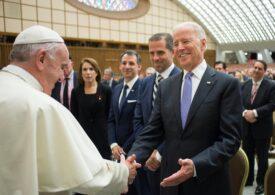 Papa Francisc l-a felicitat pe Joe Biden într-o convorbire telefonică (echipa lui Biden)