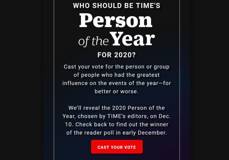 Revista Time a făcut publică lista nominalizaţilor pentru Persoana Anului 2020