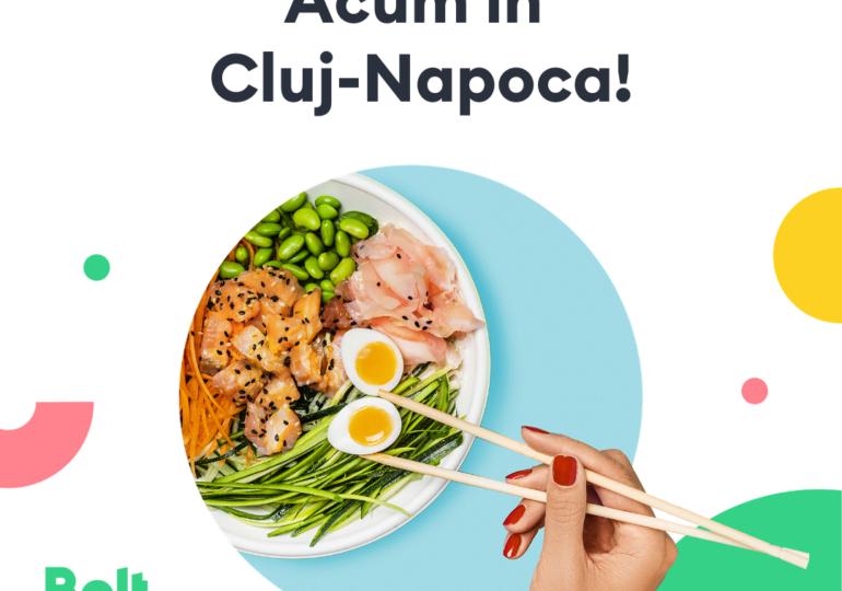 Bolt Food este disponibil în Cluj-Napoca