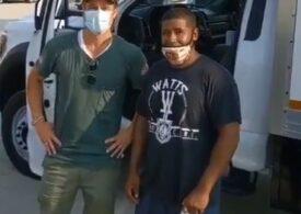 Brad Pitt a ieşit de zeci de ori incognito pe străzile din Los Angeles, ca să împartă mâncare săracilor  (Foto&Video)