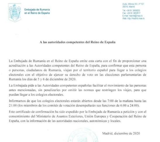 Alegeri parlamentare: Documentul de care au nevoie românii pentru a se deplasa fără restricții la secțiile de votare din Spania