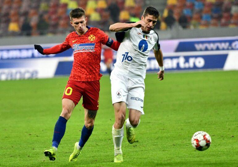 FCSB câștigă în minutul 90 și urcă pe primul loc în clasamentul Ligii 1