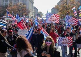 Protestele pro-Trump de la Washington s-au transformat în lupte de stradă. Poliția a făcut zeci de arestări și a confiscat arme (Video)