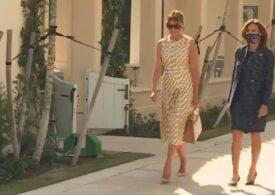 Melania Trump a votat în Florida. Nu avea mască, dar era îmbrăcată într-o rochie de 4.500 de dolari (Video)